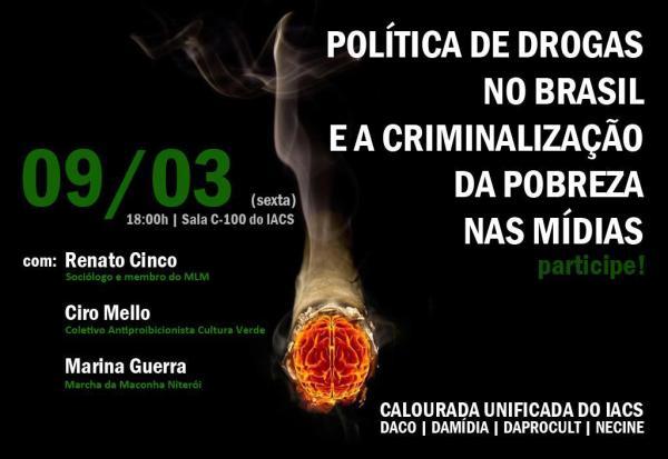 Debate sobre política de drogas no IACS